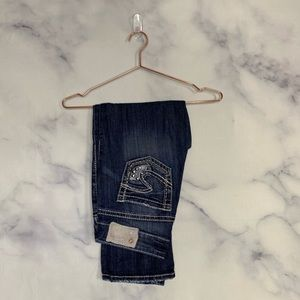 Silver Suki Bling Studded Capri Pants